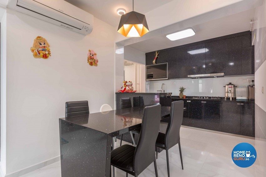 Classical, Contemporary Design - Dining Room - HDB 4 Room - Design by Home Concepts Interior & Design Pte Ltd