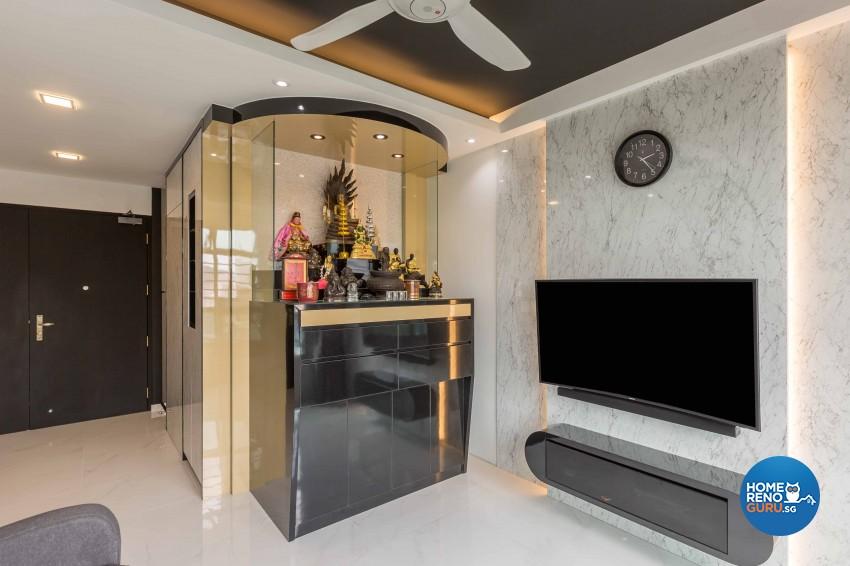 Classical, Contemporary Design - Living Room - HDB 4 Room - Design by Home Concepts Interior & Design Pte Ltd
