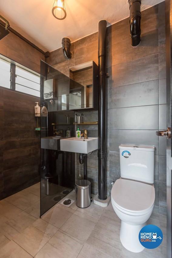 Industrial Design - Bathroom - Condominium - Design by Home Concepts Interior & Design Pte Ltd