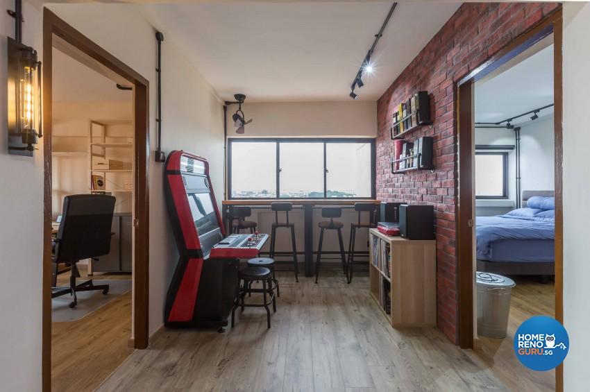 Industrial Design - Living Room - Condominium - Design by Home Concepts Interior & Design Pte Ltd