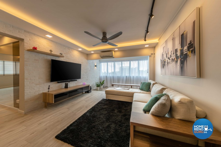 Modern, Scandinavian Design - Living Room - HDB 4 Room - Design by Home Concepts Interior & Design Pte Ltd