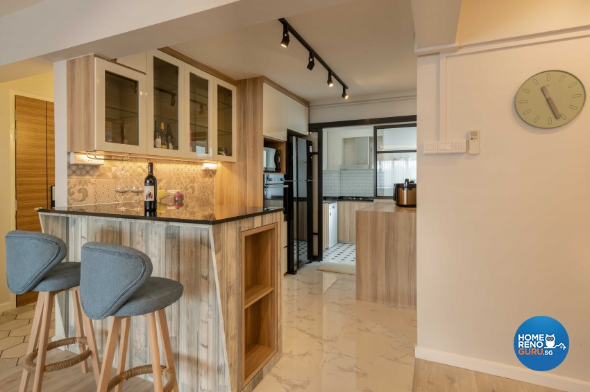 Modern, Scandinavian Design - Dining Room - HDB 4 Room - Design by Home Concepts Interior & Design Pte Ltd