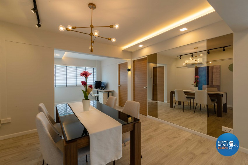 Modern, Scandinavian Design - Dining Room - HDB 4 Room - Design by Home Concepts Interior & Design Pte Ltd