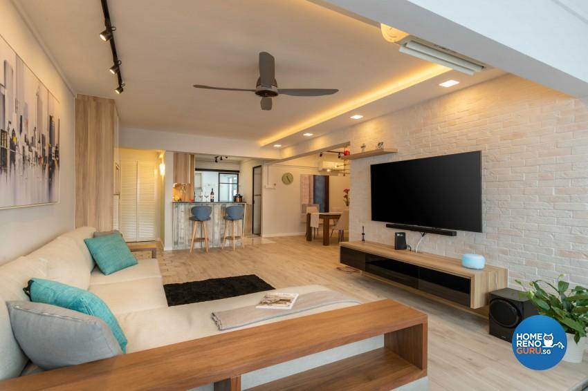 Modern, Scandinavian Design - Living Room - HDB 4 Room - Design by Home Concepts Interior & Design Pte Ltd