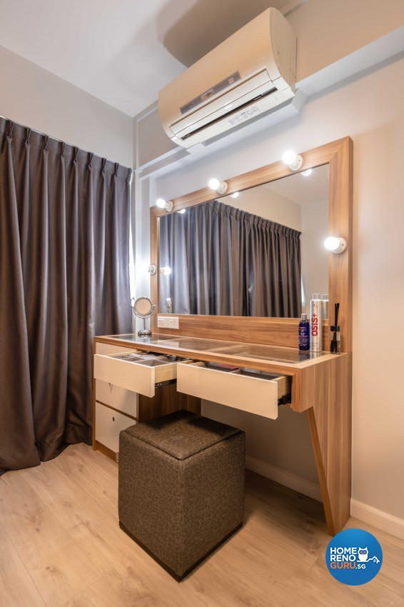 Modern, Scandinavian Design - Bedroom - HDB 4 Room - Design by Home Concepts Interior & Design Pte Ltd