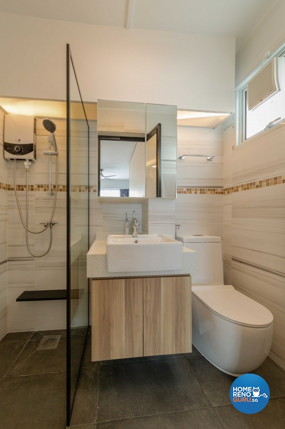 Modern, Scandinavian Design - Bathroom - HDB 4 Room - Design by Home Concepts Interior & Design Pte Ltd