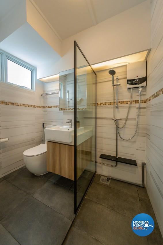 Modern, Scandinavian Design - Bathroom - HDB 4 Room - Design by Home Concepts Interior & Design Pte Ltd