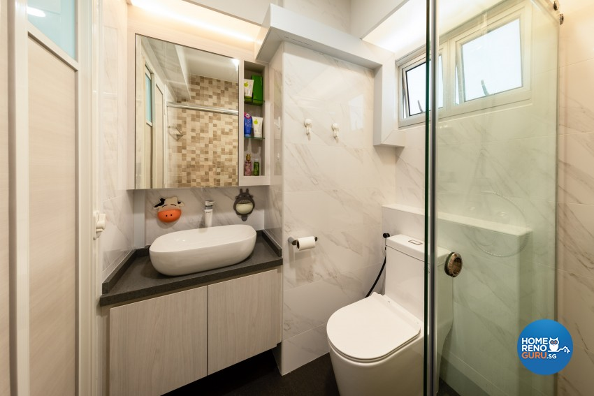 Minimalist, Modern, Scandinavian Design - Bathroom - HDB 4 Room - Design by Home Concepts Interior & Design Pte Ltd