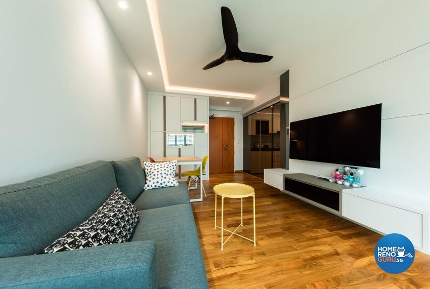Minimalist, Modern, Scandinavian Design - Living Room - HDB 4 Room - Design by Home Concepts Interior & Design Pte Ltd