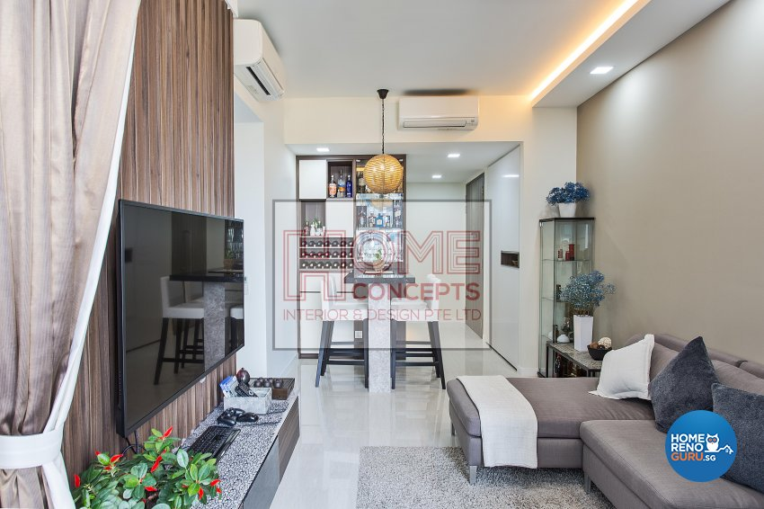 Contemporary, Resort Design - Living Room - Condominium - Design by Home Concepts Interior & Design Pte Ltd