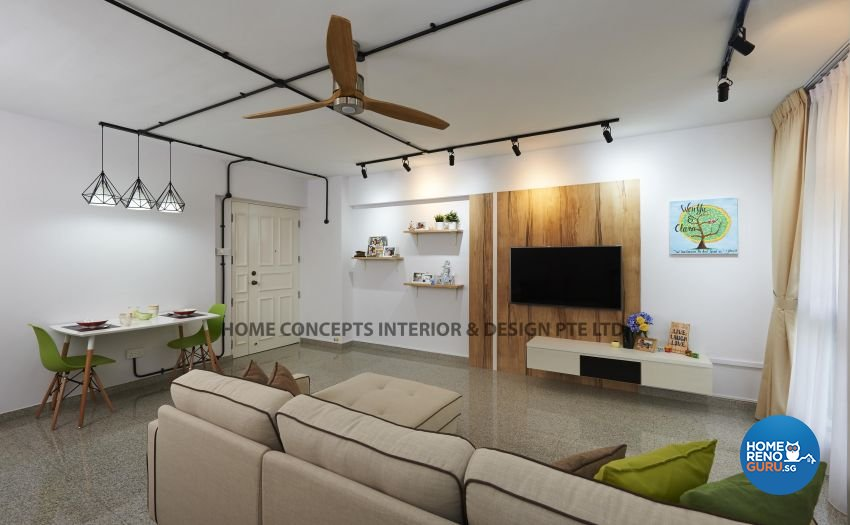 Modern Design - Dining Room - HDB 5 Room - Design by Home Concepts Interior & Design Pte Ltd