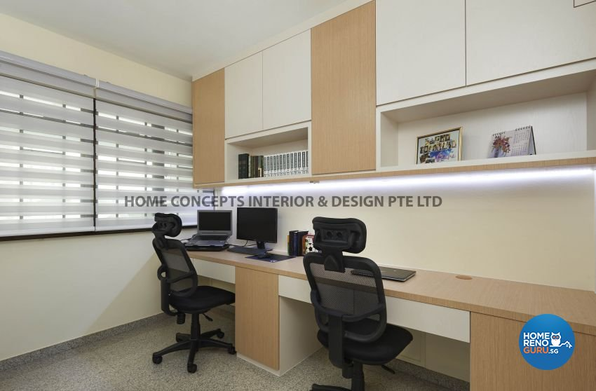 Modern Design - Study Room - HDB 5 Room - Design by Home Concepts Interior & Design Pte Ltd