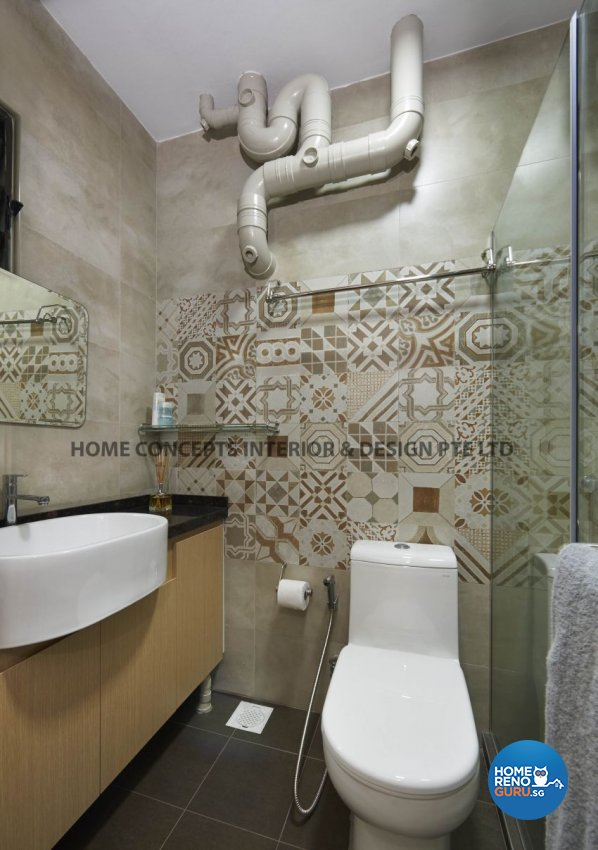 Modern Design - Bathroom - HDB 5 Room - Design by Home Concepts Interior & Design Pte Ltd