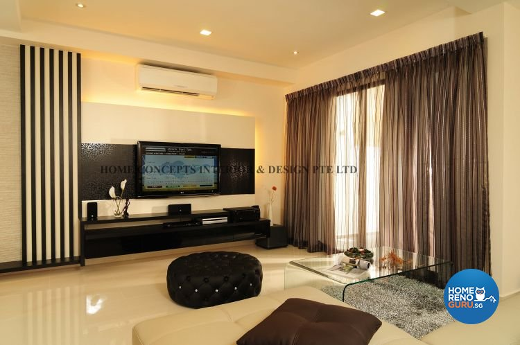 Contemporary, Modern Design - Living Room - Landed House - Design by Home Concepts Interior & Design Pte Ltd