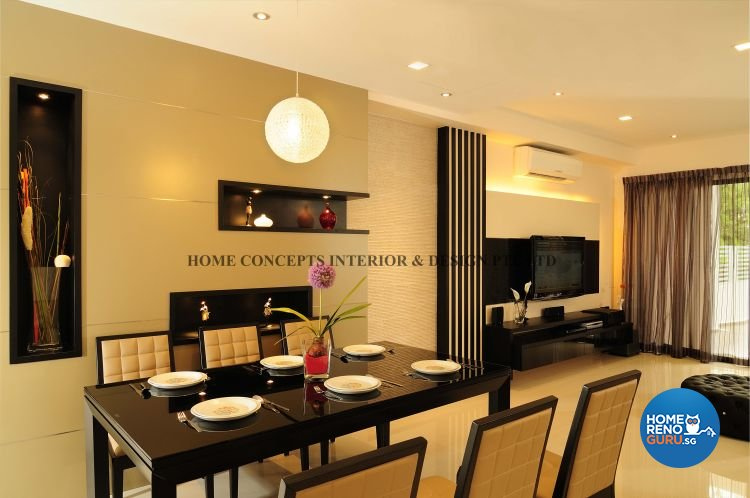 Contemporary, Modern Design - Dining Room - Landed House - Design by Home Concepts Interior & Design Pte Ltd