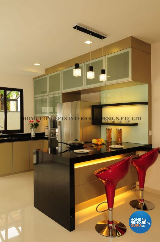Contemporary, Modern Design - Kitchen - Landed House - Design by Home Concepts Interior & Design Pte Ltd