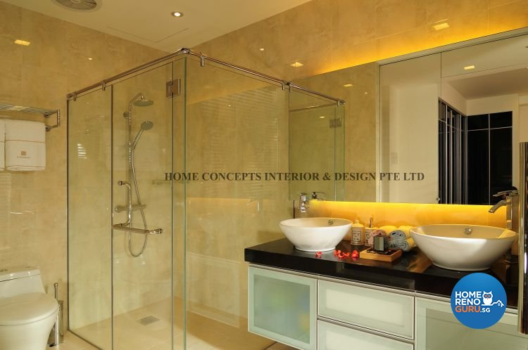 Contemporary, Modern Design - Bathroom - Landed House - Design by Home Concepts Interior & Design Pte Ltd