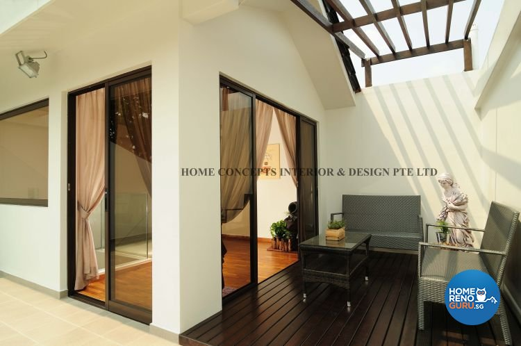 Contemporary, Modern Design - Balcony - Landed House - Design by Home Concepts Interior & Design Pte Ltd