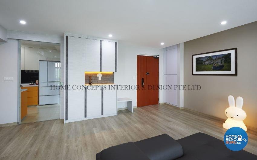 Classical, Contemporary Design - Living Room - HDB 5 Room - Design by Home Concepts Interior & Design Pte Ltd