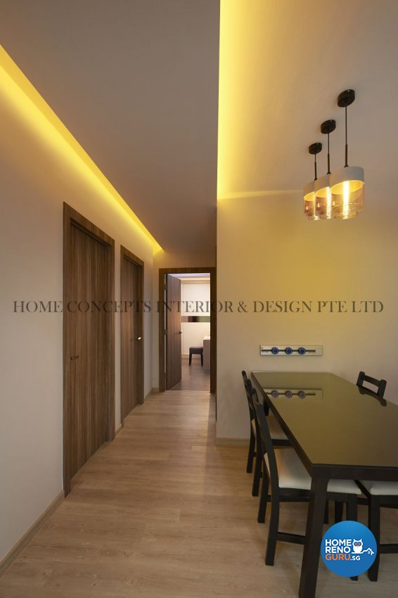 Classical, Contemporary Design - Dining Room - HDB 5 Room - Design by Home Concepts Interior & Design Pte Ltd