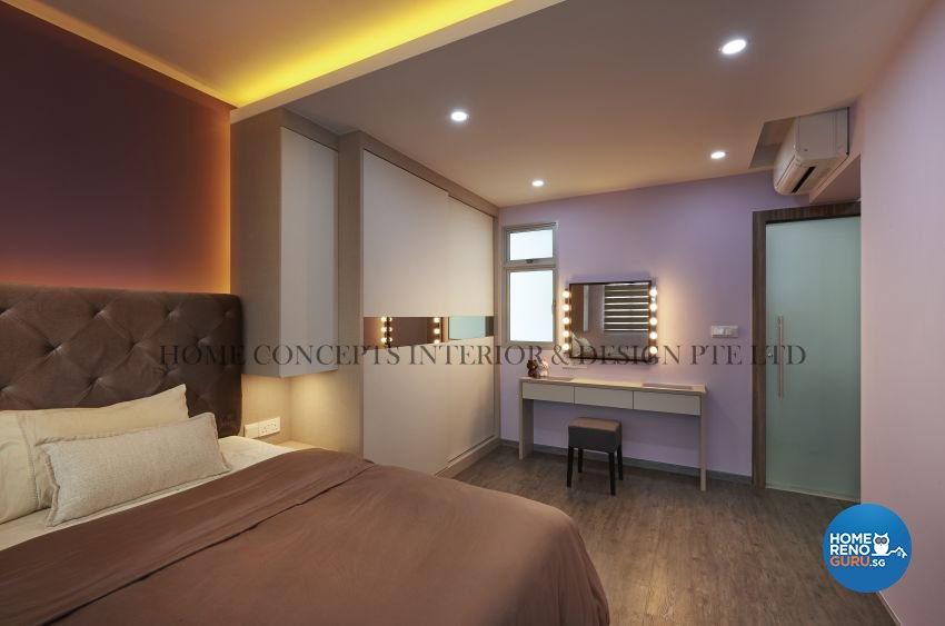 Classical, Contemporary Design - Bedroom - HDB 5 Room - Design by Home Concepts Interior & Design Pte Ltd
