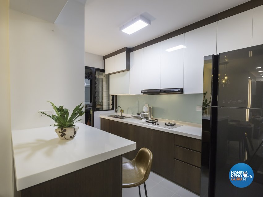 Contemporary Design - Kitchen - HDB 4 Room - Design by Home Concepts Interior & Design Pte Ltd