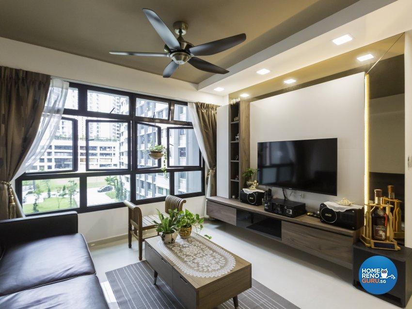 Contemporary Design - Living Room - HDB 4 Room - Design by Home Concepts Interior & Design Pte Ltd