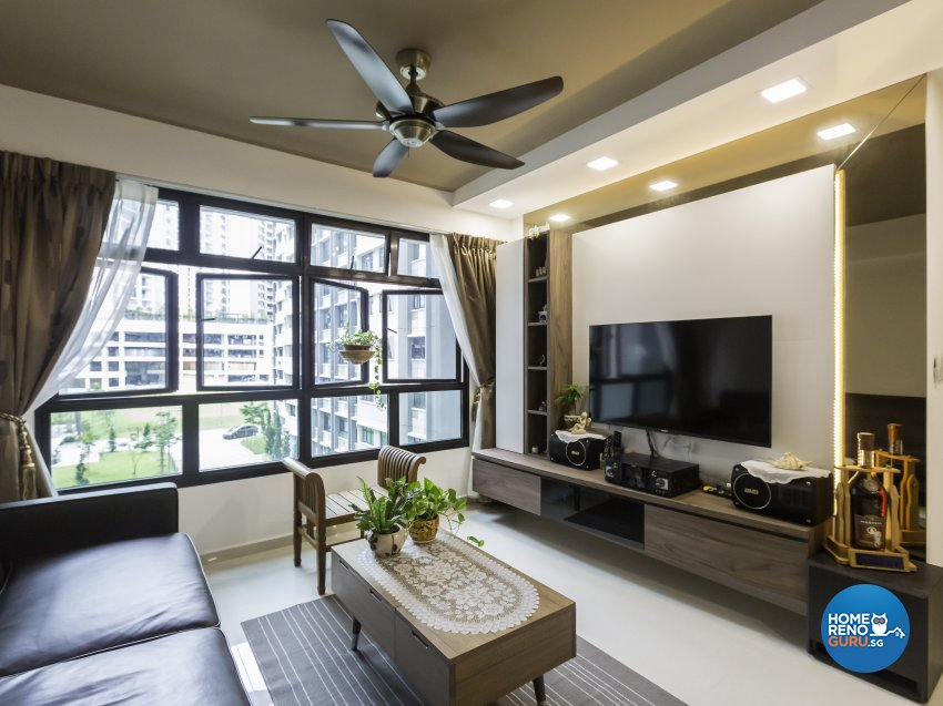 Contemporary Design - Living Room - HDB 4 Room - Design by Home Concepts Interior & Design Pte Ltd