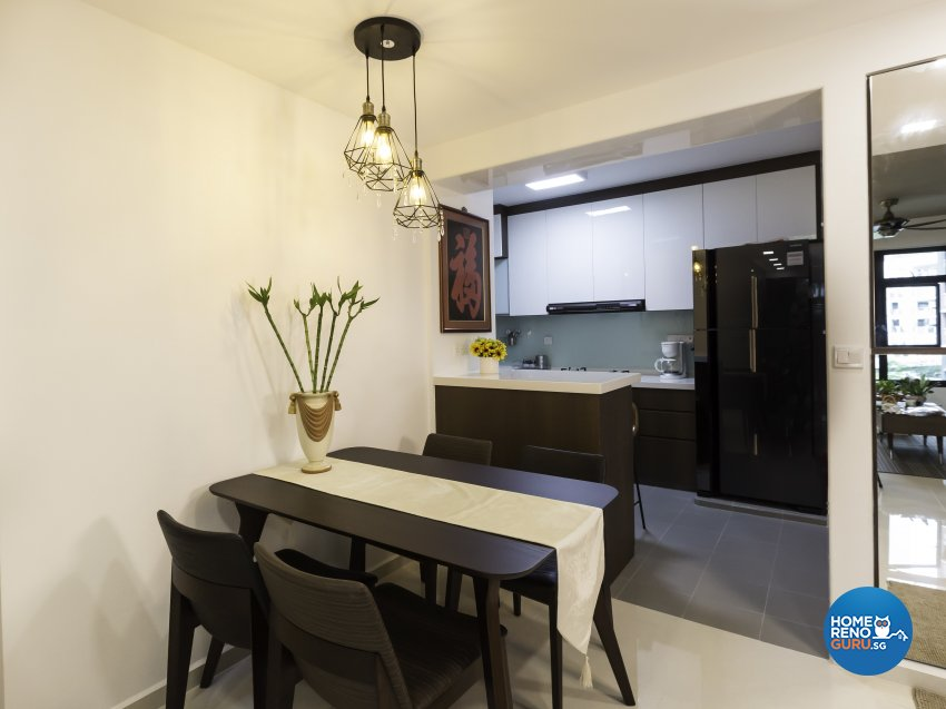 Contemporary Design - Dining Room - HDB 4 Room - Design by Home Concepts Interior & Design Pte Ltd