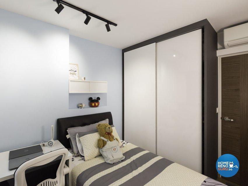 Contemporary Design - Bedroom - HDB 4 Room - Design by Home Concepts Interior & Design Pte Ltd