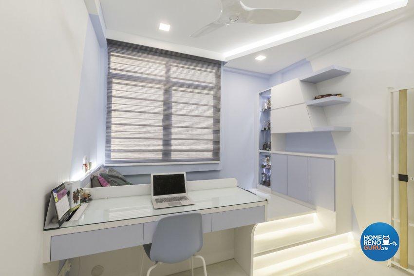 Contemporary Design - Study Room - Condominium - Design by Home Concepts Interior & Design Pte Ltd
