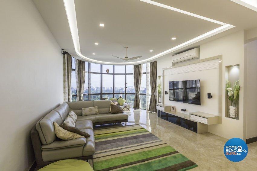 Contemporary Design - Living Room - Condominium - Design by Home Concepts Interior & Design Pte Ltd