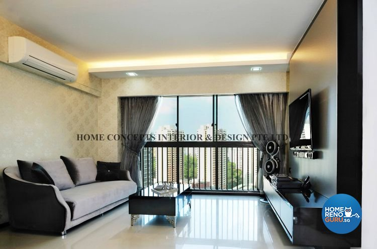 Classical, Modern Design - Living Room - HDB 4 Room - Design by Home Concepts Interior & Design Pte Ltd