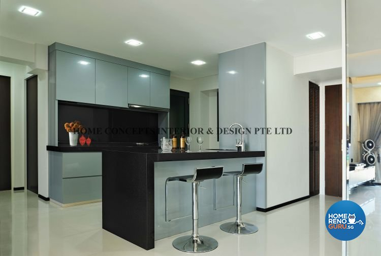 Classical, Modern Design - Kitchen - HDB 4 Room - Design by Home Concepts Interior & Design Pte Ltd