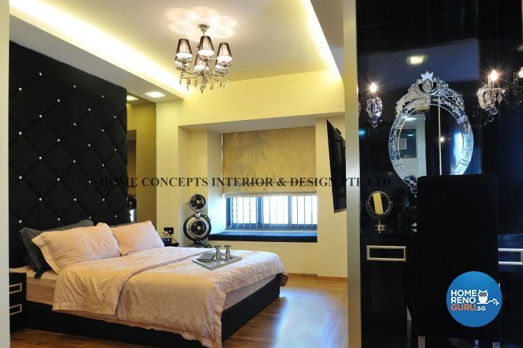 Classical, Modern Design - Bedroom - HDB 4 Room - Design by Home Concepts Interior & Design Pte Ltd