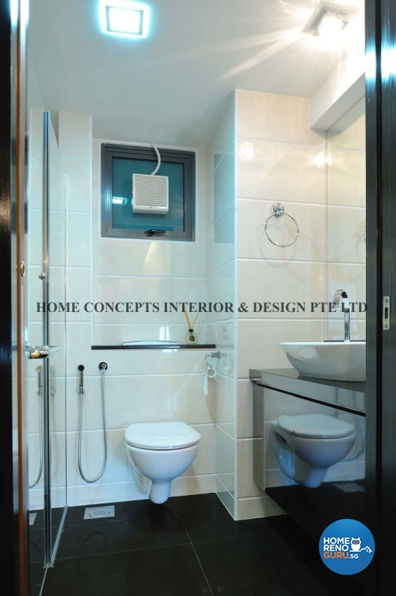 Classical, Modern Design - Bathroom - HDB 4 Room - Design by Home Concepts Interior & Design Pte Ltd