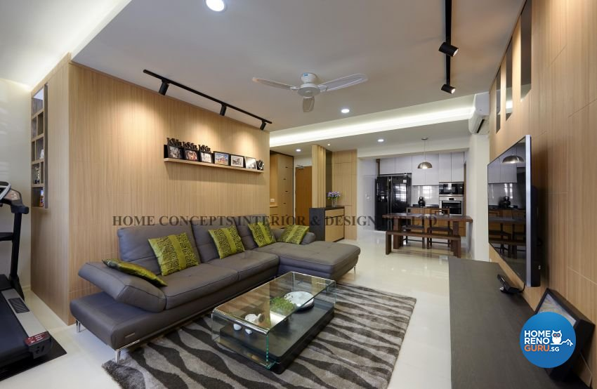 Classical, Contemporary, Modern, Resort Design - Living Room - HDB 5 Room - Design by Home Concepts Interior & Design Pte Ltd