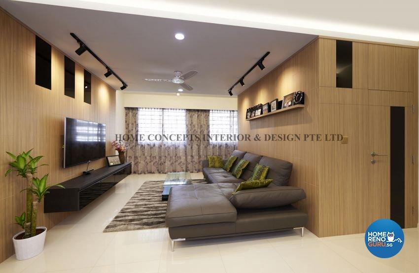 Classical, Contemporary, Modern, Resort Design - Living Room - HDB 5 Room - Design by Home Concepts Interior & Design Pte Ltd