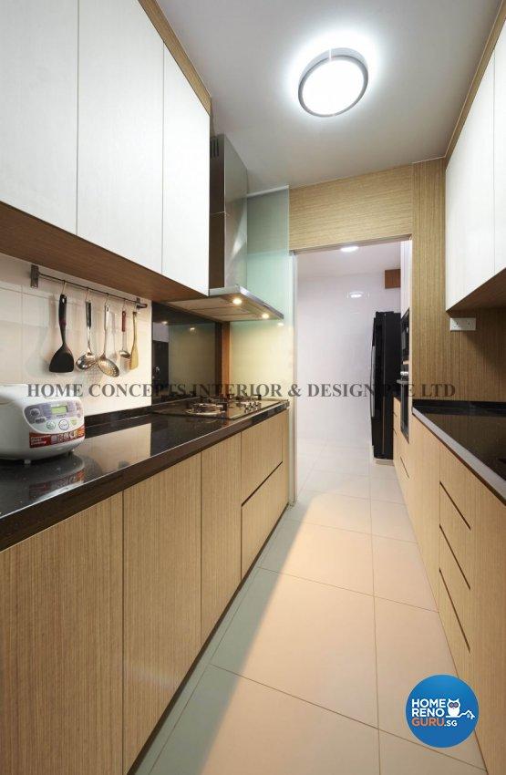 Classical, Contemporary, Modern, Resort Design - Kitchen - HDB 5 Room - Design by Home Concepts Interior & Design Pte Ltd