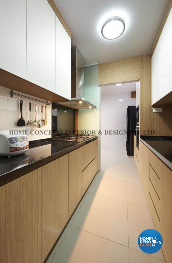 Classical, Contemporary, Modern, Resort Design - Kitchen - HDB 5 Room - Design by Home Concepts Interior & Design Pte Ltd