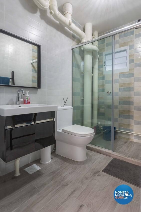 Modern Design - Bathroom - HDB 4 Room - Design by Home Concepts Interior & Design Pte Ltd