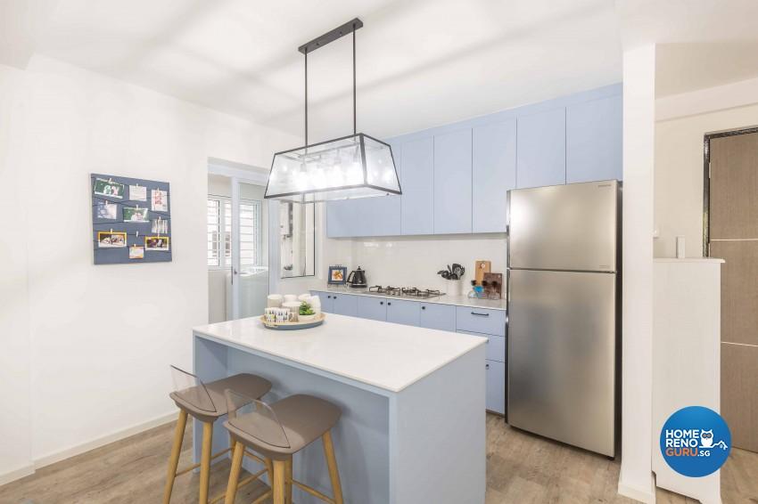 Modern Design - Kitchen - HDB 4 Room - Design by Home Concepts Interior & Design Pte Ltd