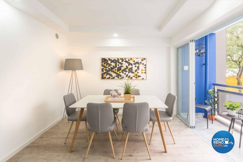 Modern Design - Dining Room - HDB 4 Room - Design by Home Concepts Interior & Design Pte Ltd