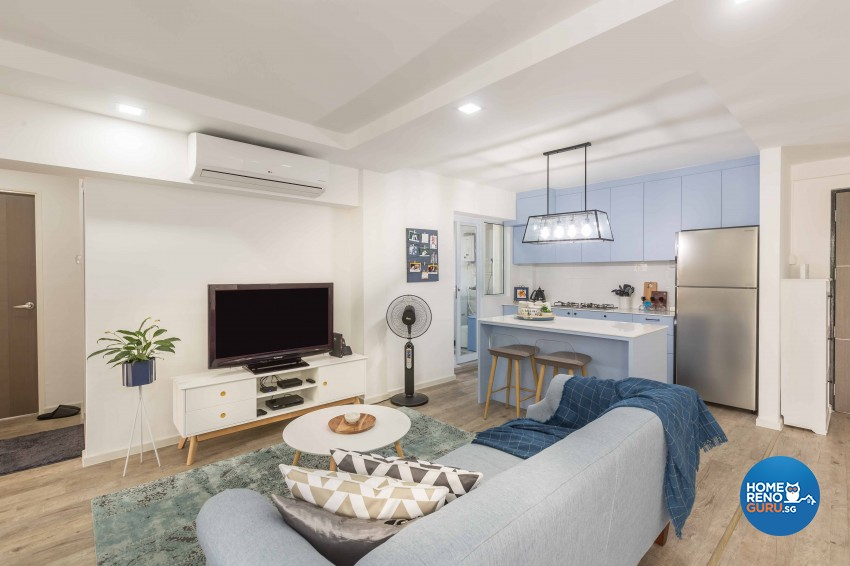 Modern Design - Living Room - HDB 4 Room - Design by Home Concepts Interior & Design Pte Ltd