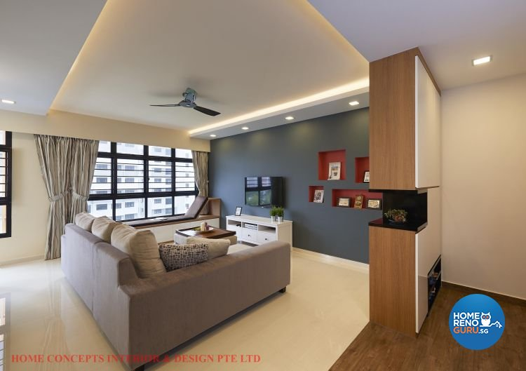 Contemporary, Minimalist, Scandinavian Design - Living Room - HDB 5 Room - Design by Home Concepts Interior & Design Pte Ltd