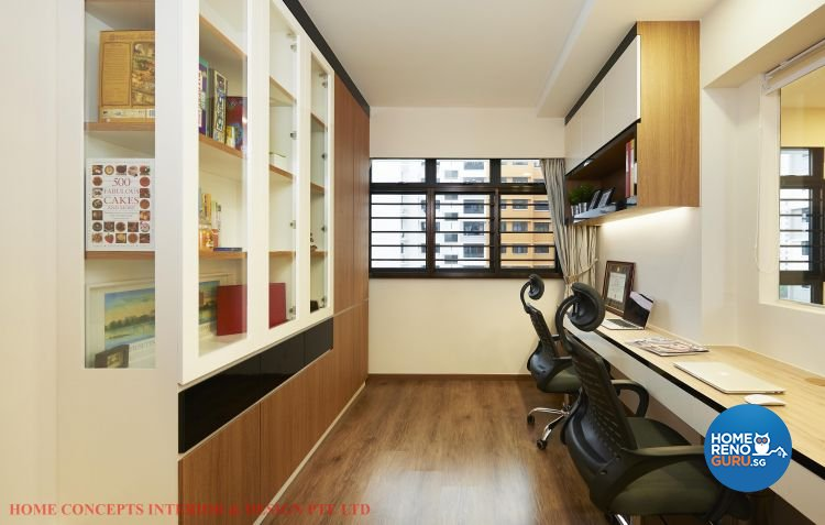Contemporary, Minimalist, Scandinavian Design - Study Room - HDB 5 Room - Design by Home Concepts Interior & Design Pte Ltd