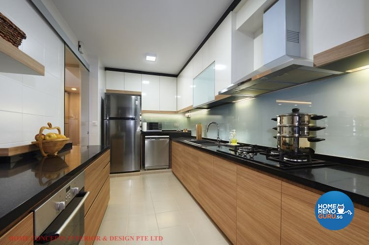 Contemporary, Minimalist, Scandinavian Design - Kitchen - HDB 5 Room - Design by Home Concepts Interior & Design Pte Ltd