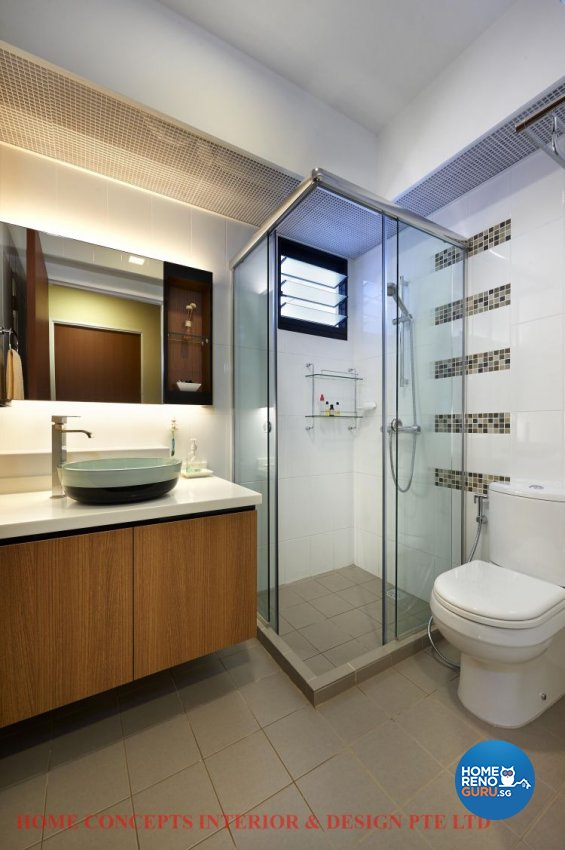 Contemporary, Minimalist, Scandinavian Design - Bathroom - HDB 5 Room - Design by Home Concepts Interior & Design Pte Ltd
