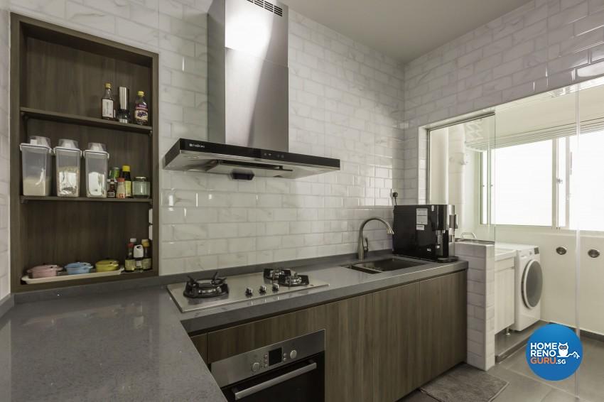 Modern, Scandinavian Design - Kitchen - HDB 5 Room - Design by Home Concepts Interior & Design Pte Ltd