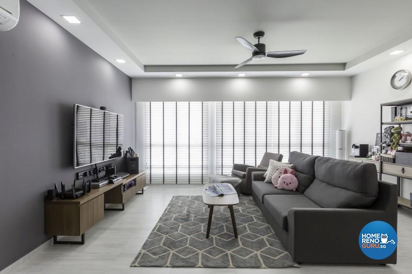 Modern, Scandinavian Design - Living Room - HDB 5 Room - Design by Home Concepts Interior & Design Pte Ltd